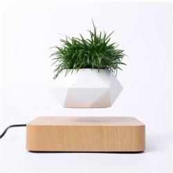 Levitujúci črepník svetlohnedé drevo