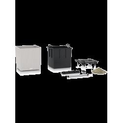 LECHUZA Cube New 40 svetlosivá