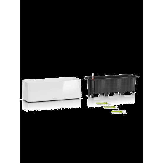 LECHUZA Cube glossy triple biela