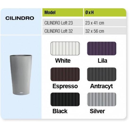 LECHUZA Cilindro 32 White