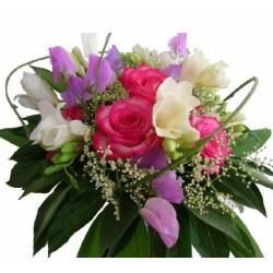 Fresie a ruže