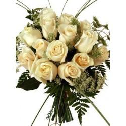 Kytica krémových ruží