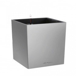 LECHUZA Cube collor silver 40
