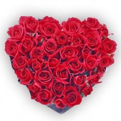 Srdce plné červenej